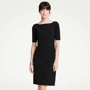 Ann Taylor Plus Size Black Stretch Sheath Dress